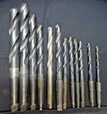 Morse Twist Drill Bits Taper Shank Hs Made In Usa - Lot Of 12