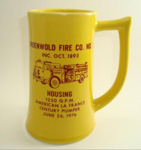 Vintage 1976 Lindenwold Fire Co #1 Housing American La France Bicentennial Stein