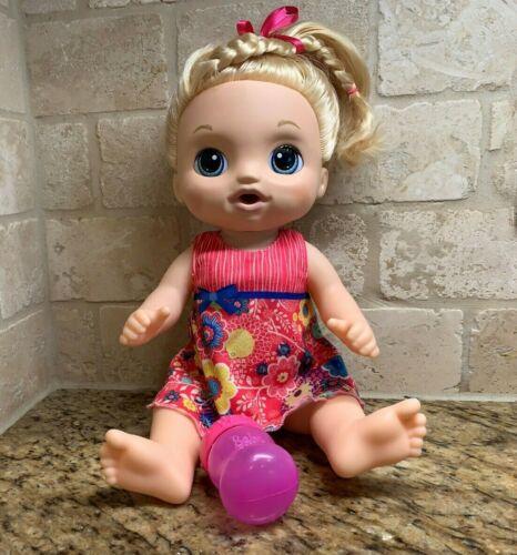 Baby Alive Sweet Tears Blonde Doll Cries Bilingual Spanish , English
