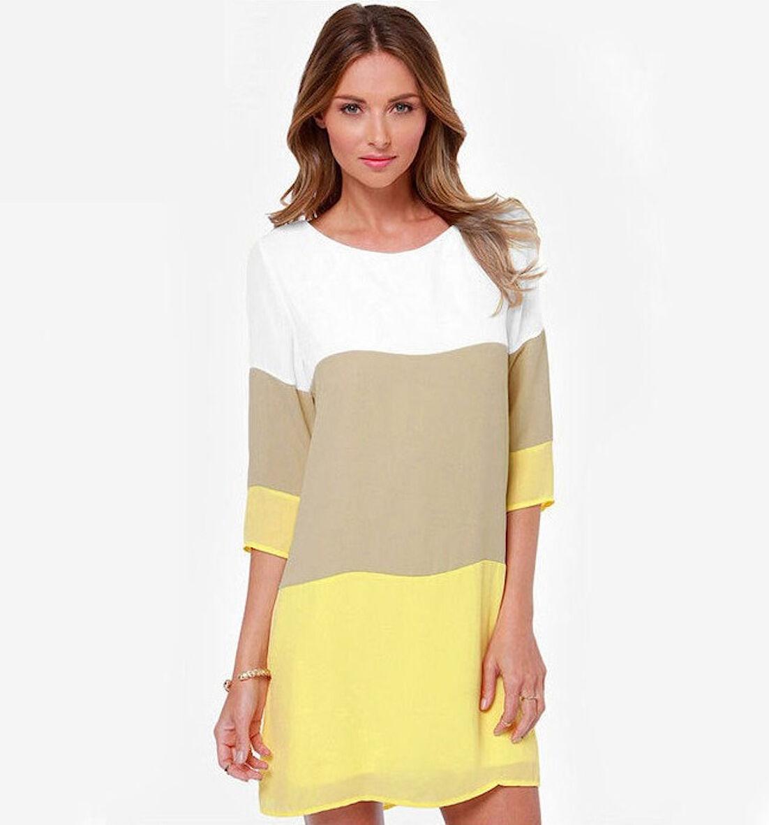 Vestito Corto Estate Donna Mini Dress Chiffon Woman Summer Mini Dress 110058