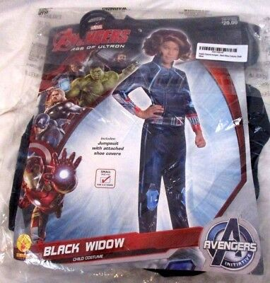 Avengers Black Widow Girl Rubies Halloween Cosplay Costume Sz Small 4-6 NWT HA6b - Black Widow Girl Costume