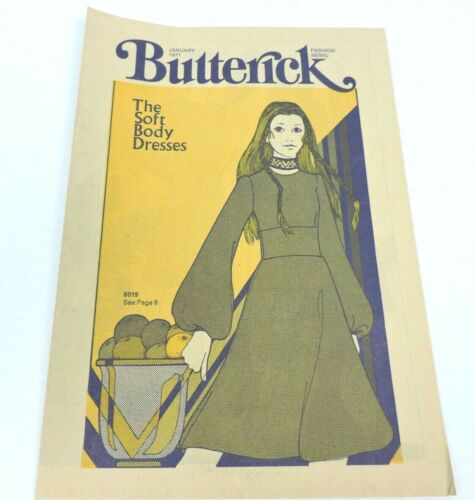 Butterick Fashion News Vintage January 1971 Pamphlet Advertisement 8 Pages