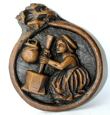 Medieval Ornament Wall Plaque Carving Unique Hand Made Period Decor Misericord