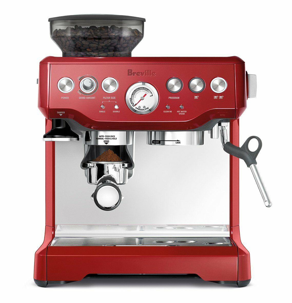 Breville Red Barista Express Coffee Machine & Espresso Maker