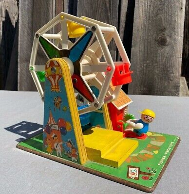 Vintage 1966 Fisher Price Little People Musical FERRIS WHEEL 969 works