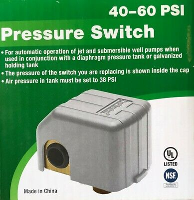 Proplumber Pressure Switch 40-60 Psi For Jet Submersible Well Pumps - Pps4060
