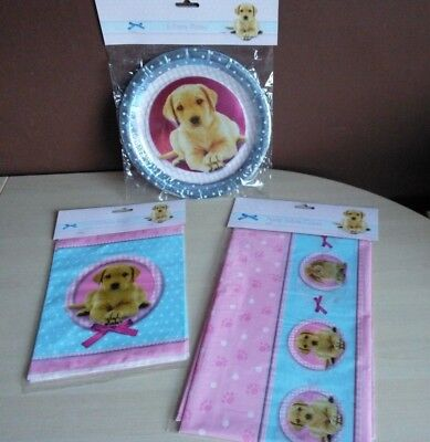 Party Pups Treat Bags - Dog Puppy Pup Pet Birthday Party Paper Plates Treat Bags Tablecloth Table Cover