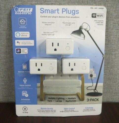 NOB Feit Electric Wifi Smart Plug 3 Pack Works With Alexa, Siri & Google Home