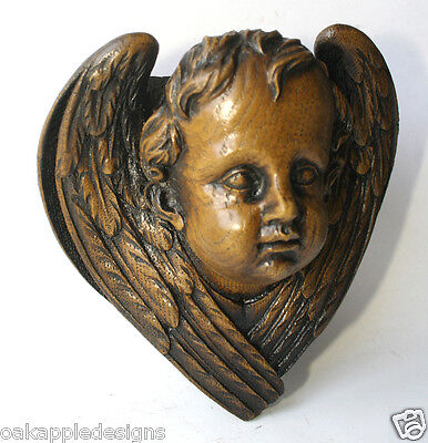 Victorian Cherub Angel Reproduction church pew Carving Unique Handmade Gift wood