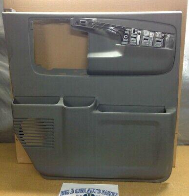 Chevrolet Express GMC Savanna RH Front Gray DOOR PANEL W/ Pull Handle new OEM