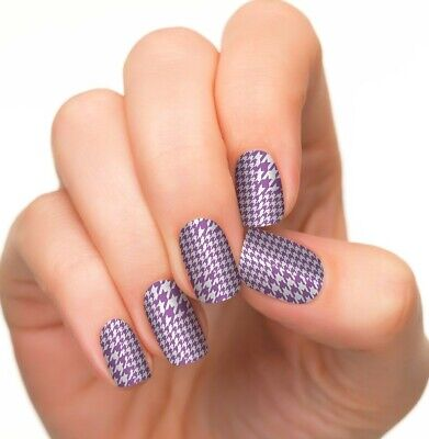 INCOCO Nail Applique Wrap Strip Made With 100% Real Nail Polish HOUNDTOOTH TWIST