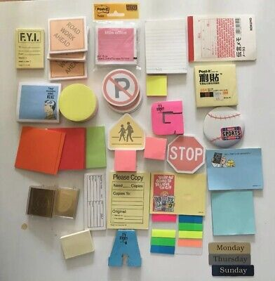 Lot Of 26 Post-it Pop-up Super Sticky Notes Verity Used And New Pads