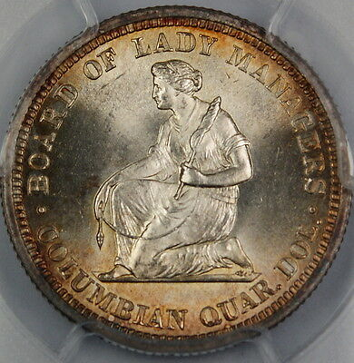 Click now to see the BUY IT NOW Price! 1893 ISABELLA SILVER QUARTER PCGS MS 64 GEM BU COMMEMORATIVE COIN
