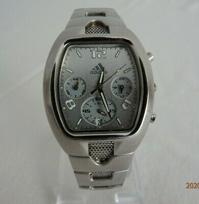 Men's *ADIDAS* `Steel'  Watch; Mesh Type Strap; Cleaned + NEW Battery + Tested