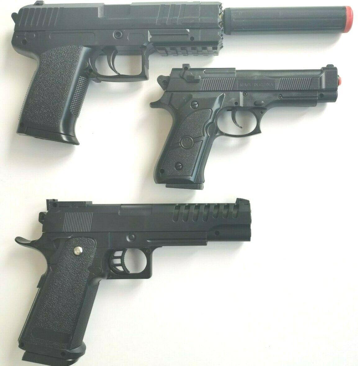 Kugelpistole CE mit Magazin Kugeln Erbsen Spielzeug Gewehre Softair max.0,08J