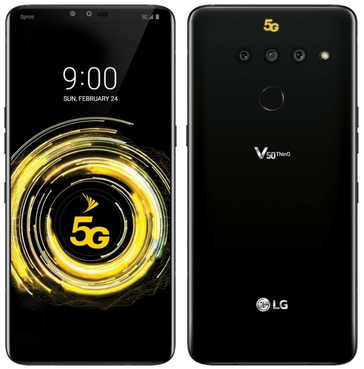Brand New LG V50 5G ThinQ - 128GB - Aurora Black