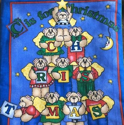 C IS FOR CHRISTMAS CHILDREN'S CLOTH BOOKS (Christmas Clothing For Children)