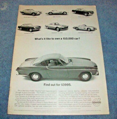 "1963 Volvo P1800 Vintage Ad ""What"