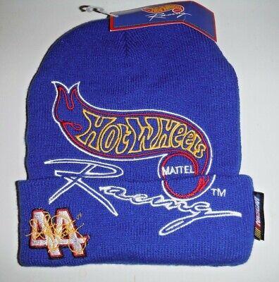 Hot Wheels Kyle Petty #44 Nascar Racing Cuffed Beanie Knit Winter Hat NWT
