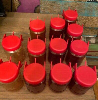 12 Vintage Handy Dandy Peg Board Jars Wickliffe Industries