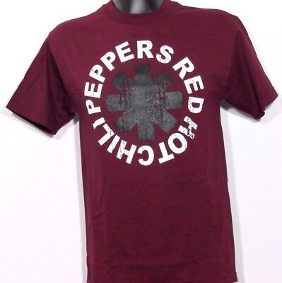 New  Red Hot Chili Peppers Burgundy Rock Band T Shirt