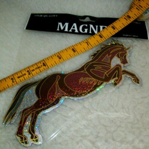 Horse Magnet Sparkle Vinyl Truck Trailer Car Fridge Locker Horse Lover Gift New