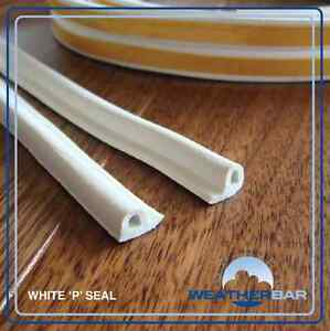Weatherbar Draft/Draught Excluding Rubber Seal, P or E Shape, Self Adhesive