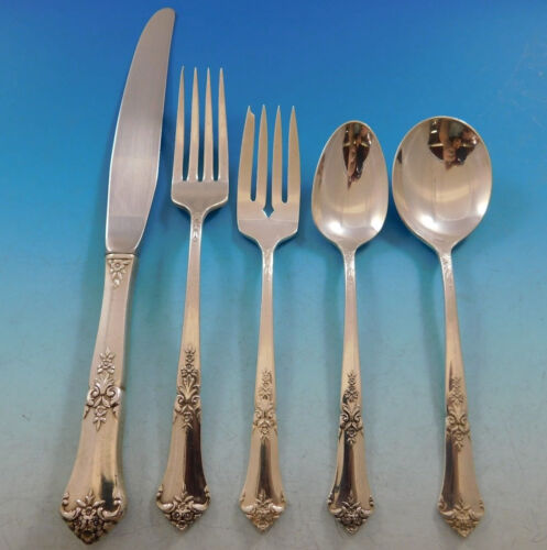 Stately by State House Sterling Silver Flatware Set for 12 Service 66 Pieces