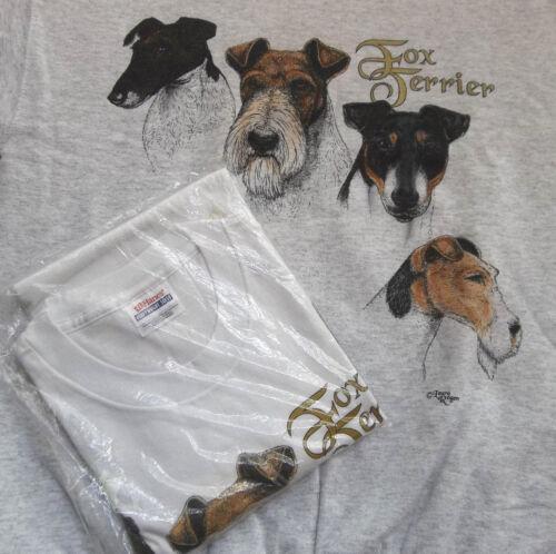 Fox Terrier Sweatshirt  & T-shirt  LG ( 42 ~ 44 )