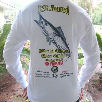 - 2016 Hilton Head Harbor 12th Wahoo Tournament T-shirt, New, 2XL, LS Collectible