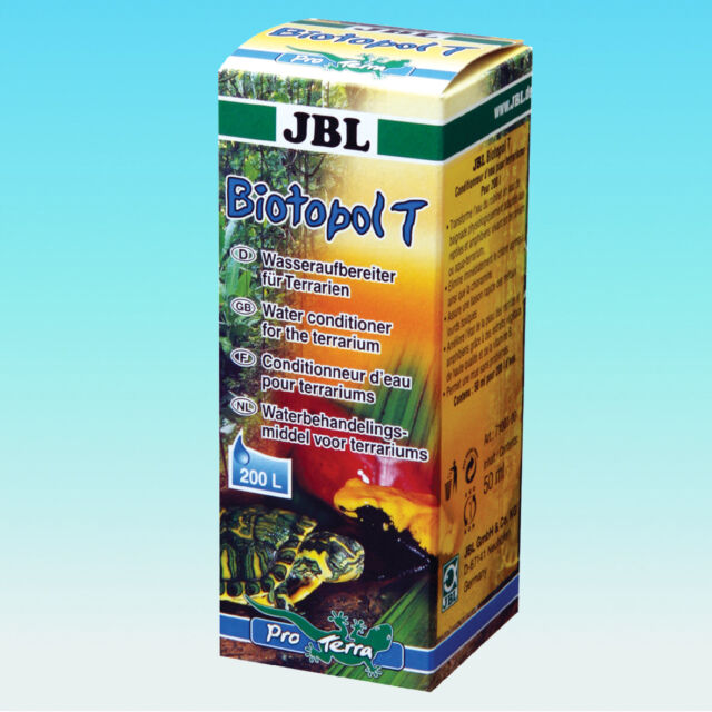JBL Biotopol T 50ml - Wasseraufbereiter Terrarien Aufbereiter Chlor Bio Topol