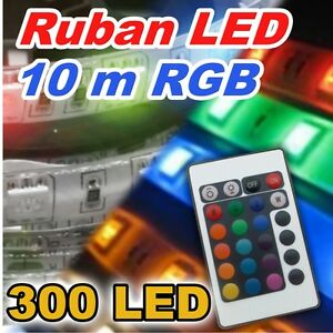 816m 10 ruban led rgb 300 led 10m kit complet version 30 led m type 5050 ebay. Black Bedroom Furniture Sets. Home Design Ideas
