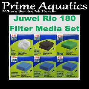 JUWEL RIO 180 COMPLETE FILTER MEDIA SET  NEW BOXED