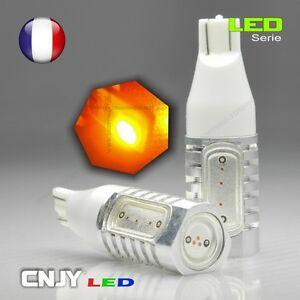 2 ampoules cnjy led smd hlu 8w w16w t15 w2 1x9 5d orange. Black Bedroom Furniture Sets. Home Design Ideas