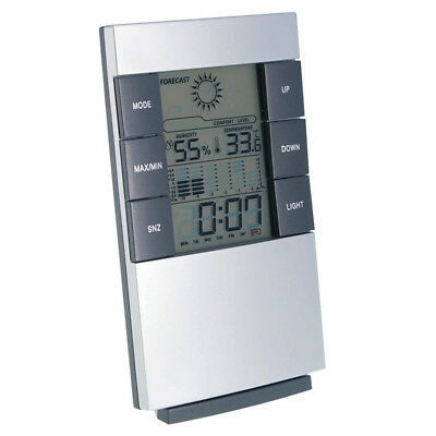 Multifunktions-Wetterstation | Thermometer | Hygrometer | Wecker | Kalender