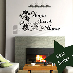 Home sweet home vinyl wall art sticker transfer decal Home sweet home wall decor