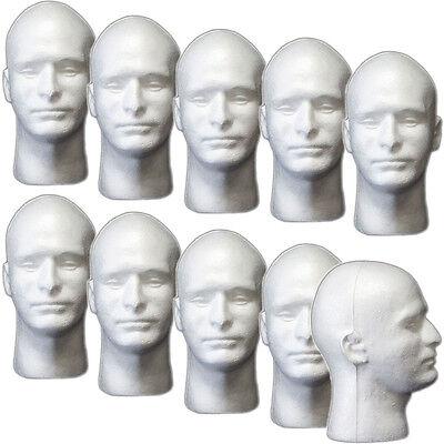 Less Than Perfect Mn-409-ltp 10 Pcs Male Styrofoam Foam Mannequin Head