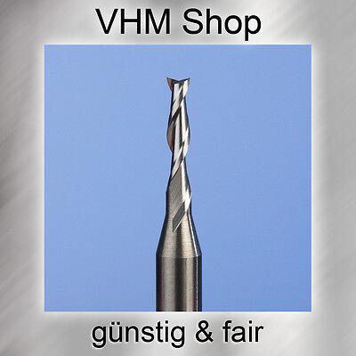 1 Stück NEU 2 Schneiden VHM Fräser,HM Schaftfräser,Dremel, Durchmesser 0,8 mm