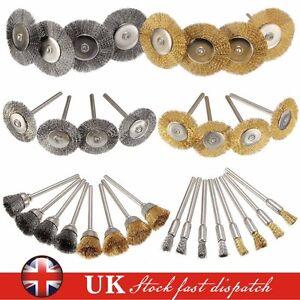 32Pcs Brass Steel Wire Brush Polishing Wheels Full Kit for Dremel Rotary Tools