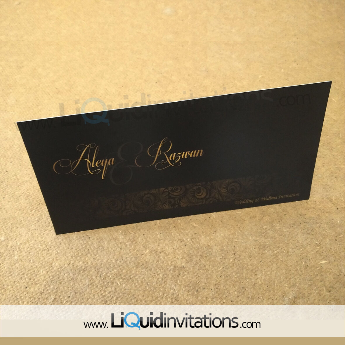 Details About Asian Indian Sikh Muslim Custom Wedding Invitation Card Sample