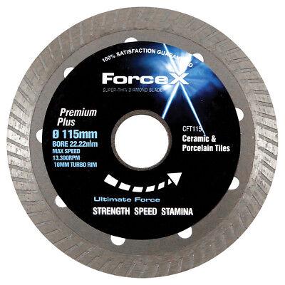 Force-x Diamond Super Thin Turbo Porcelain Tile Blade Disc Cft115 115mm 4 12