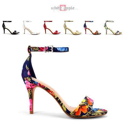 Hot Women Open Toe Ankle Strap Party Dress Sandal High Heel Classified Printer