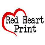 red-heart-print