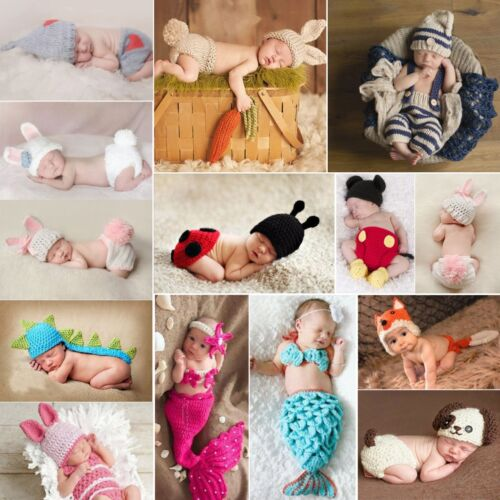 Knit Costume Photo Photography Prop Hats Outfits Crochet For Baby 0.6-1 Yrs old