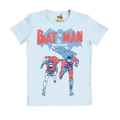 - GC - Batman & Robin In Action - T-Shirt, blau - TRAKTOR® (Blau Super-helden)