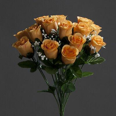 Rosenstrauß Paris 36cm Orange Dp Kunstblumen Künstlicher Strauße Rosen