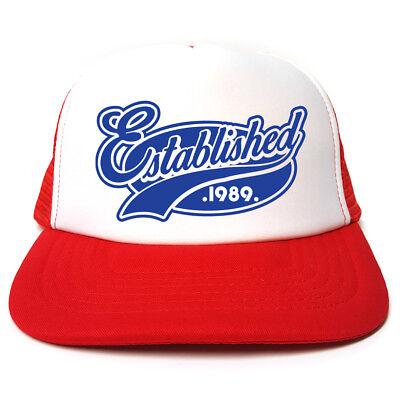 Etabliert 1989 Hut - Lustig Retro Trucker Kappe - Lustigen Hut