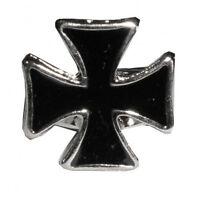 Anillo Con Cruz Esmaltado Negro Regulable De Metal -  - ebay.es