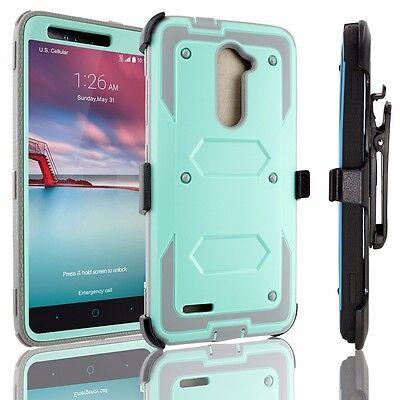 For ZTE Carry/ Zmax PRO /Blade X Max shockproof Belt Clip Holster Case +