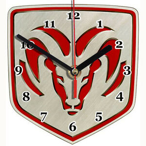 horloge murale logo dodge 01m ebay. Black Bedroom Furniture Sets. Home Design Ideas